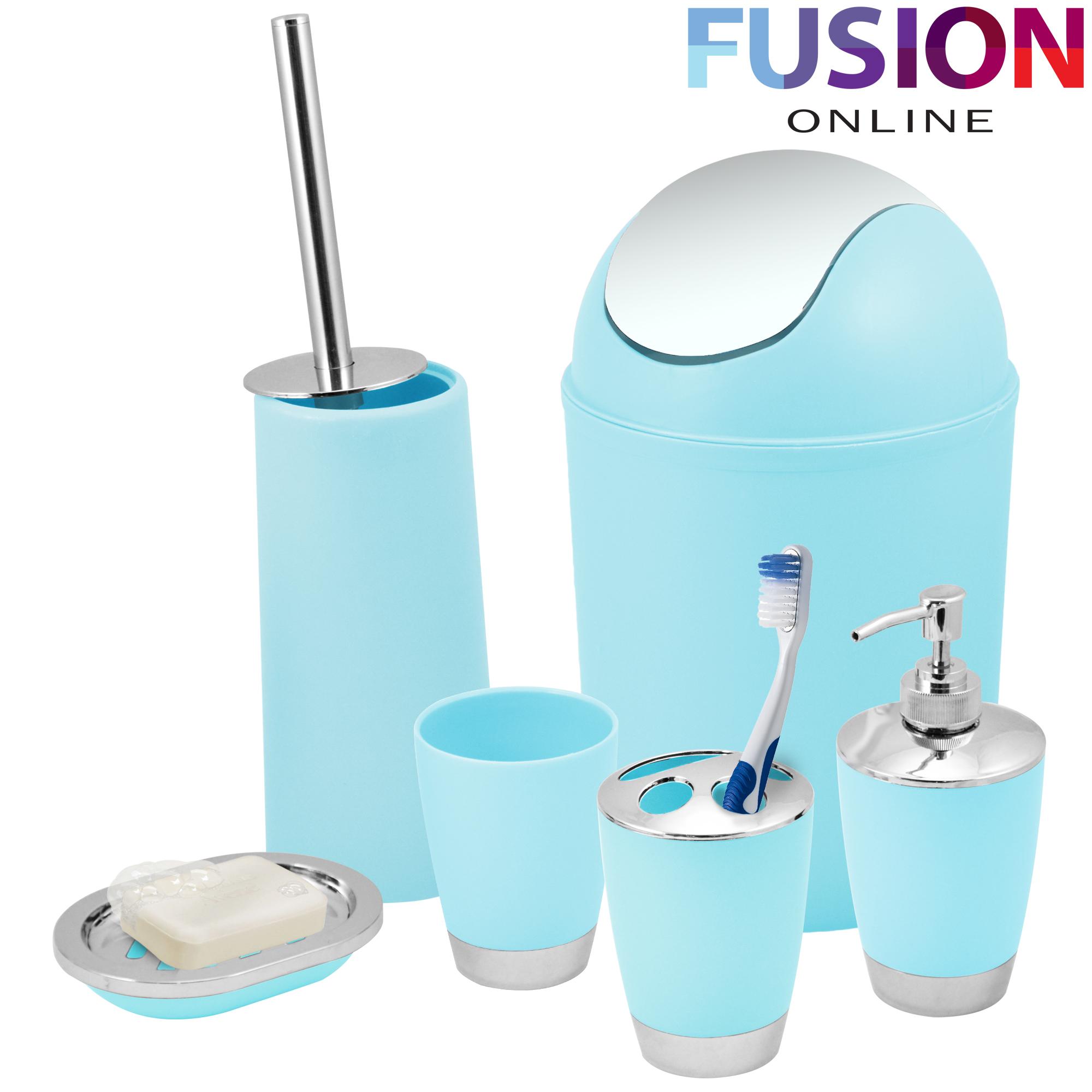 Bathroom set 6 piece accessory bin soap dish dispenser Soap lotion dispenser set