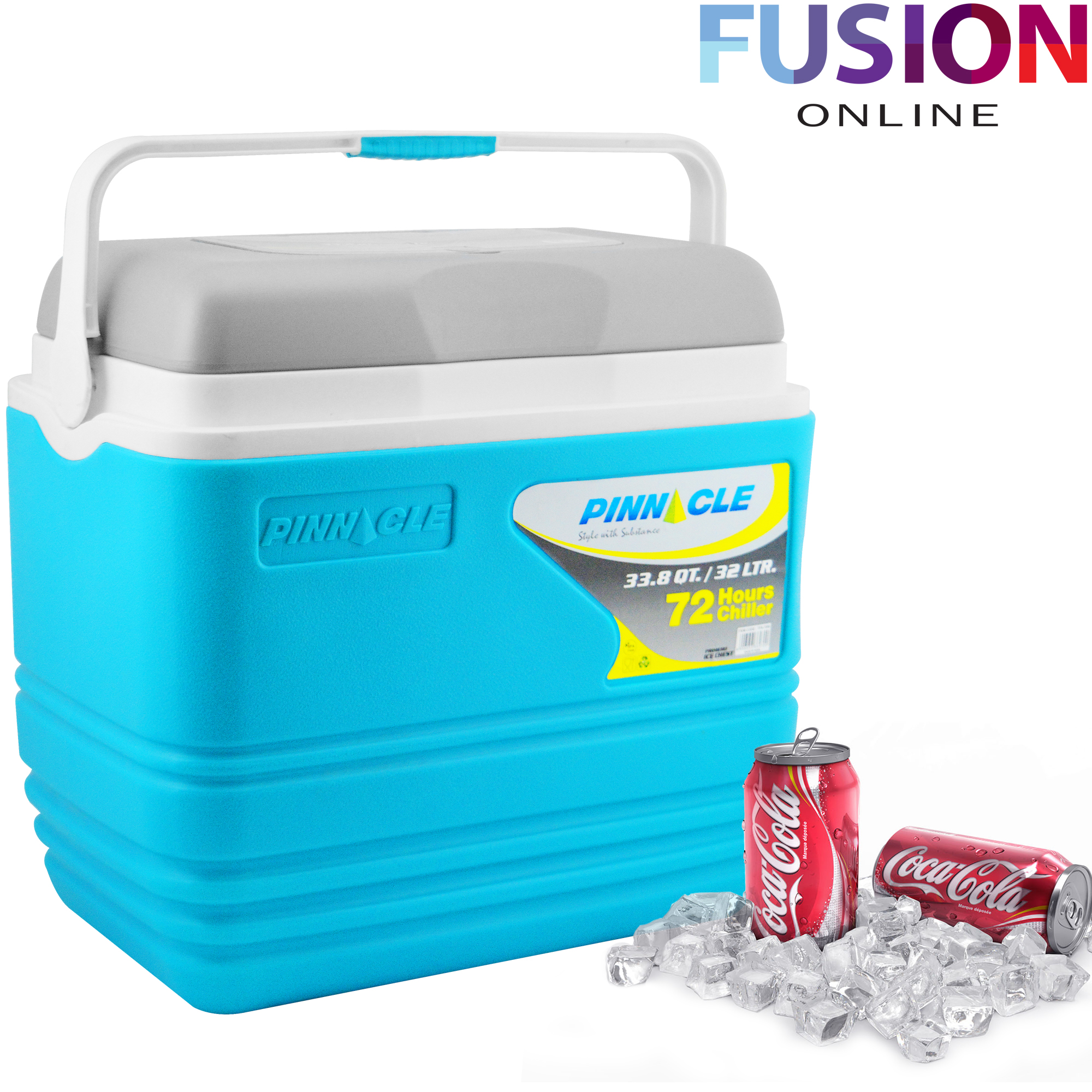 Cool Box 32l coolbox large blue cooler box camping picnic beach ice food