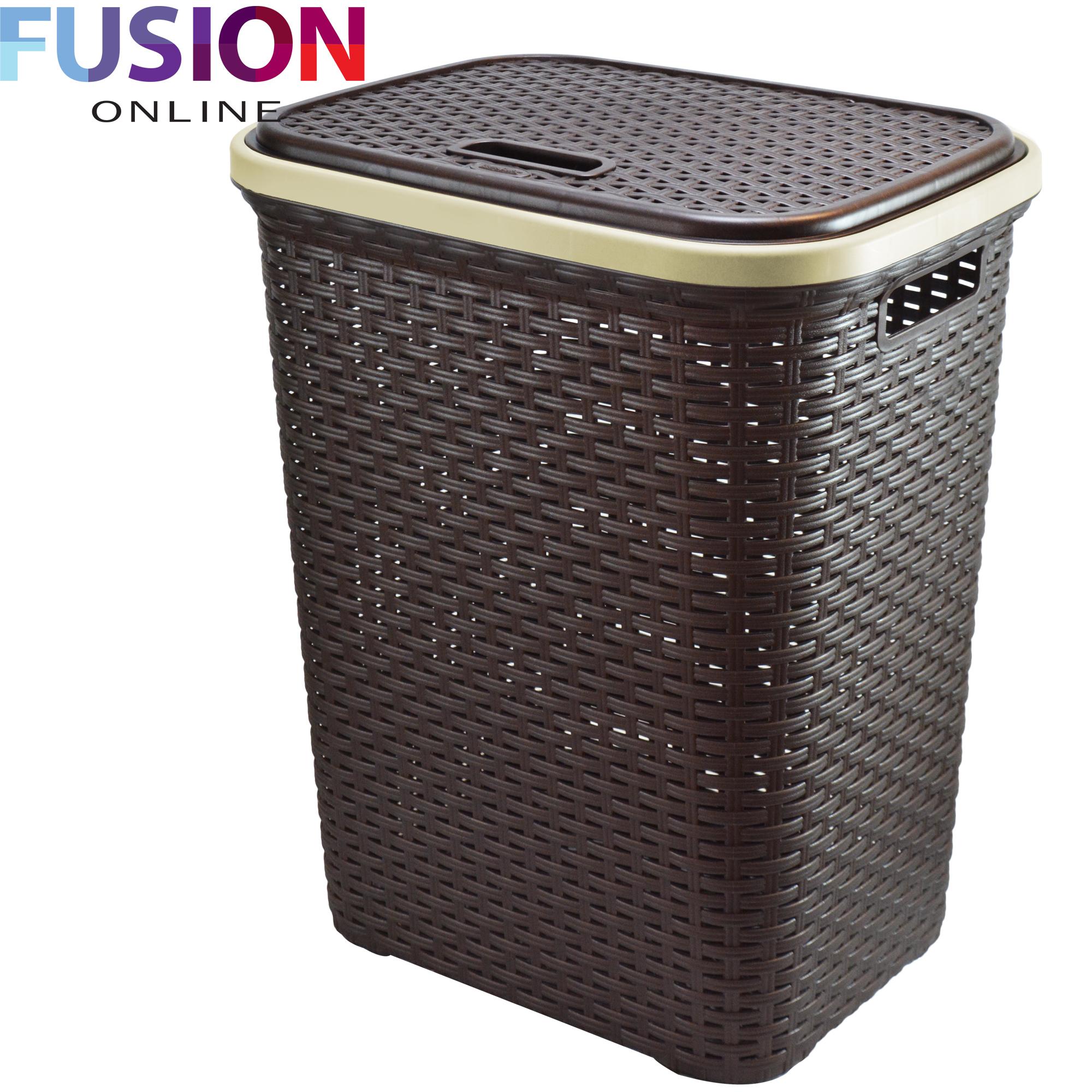 Large Laundry Basket Washing Clothes Storage Hamper Rattan