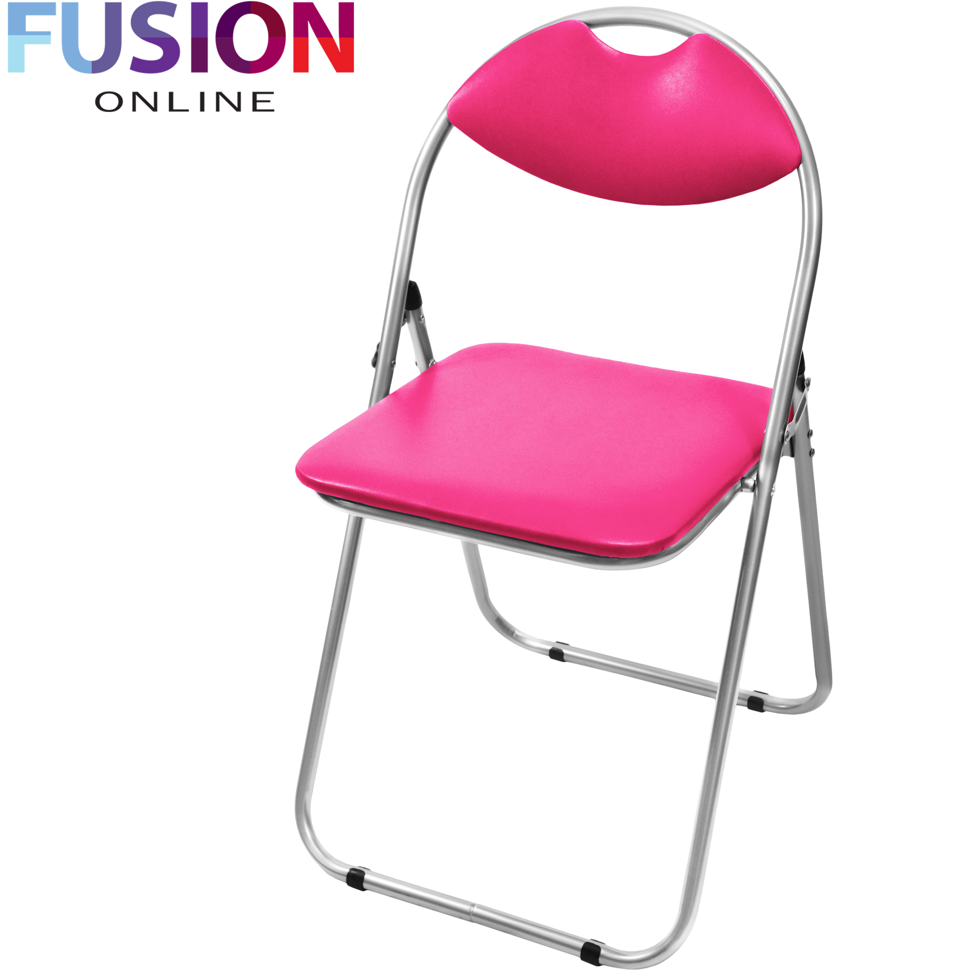 FOLDING OFFICE RECEPTION PADDED DESK CHAIRS FOLDABLE CHAIR FAUX