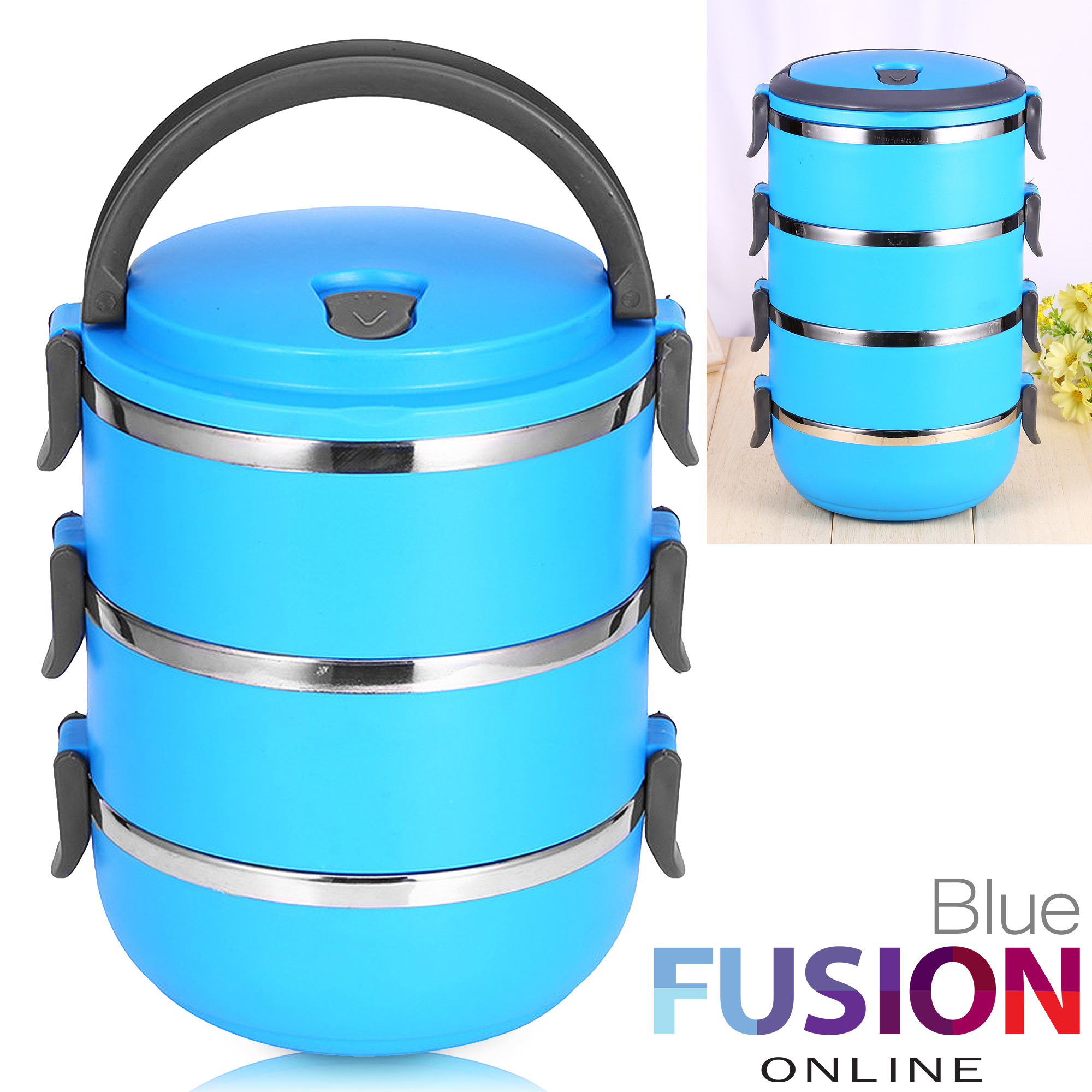 2 1l lunch box bento thermos heated food container portable compact food warmer ebay. Black Bedroom Furniture Sets. Home Design Ideas