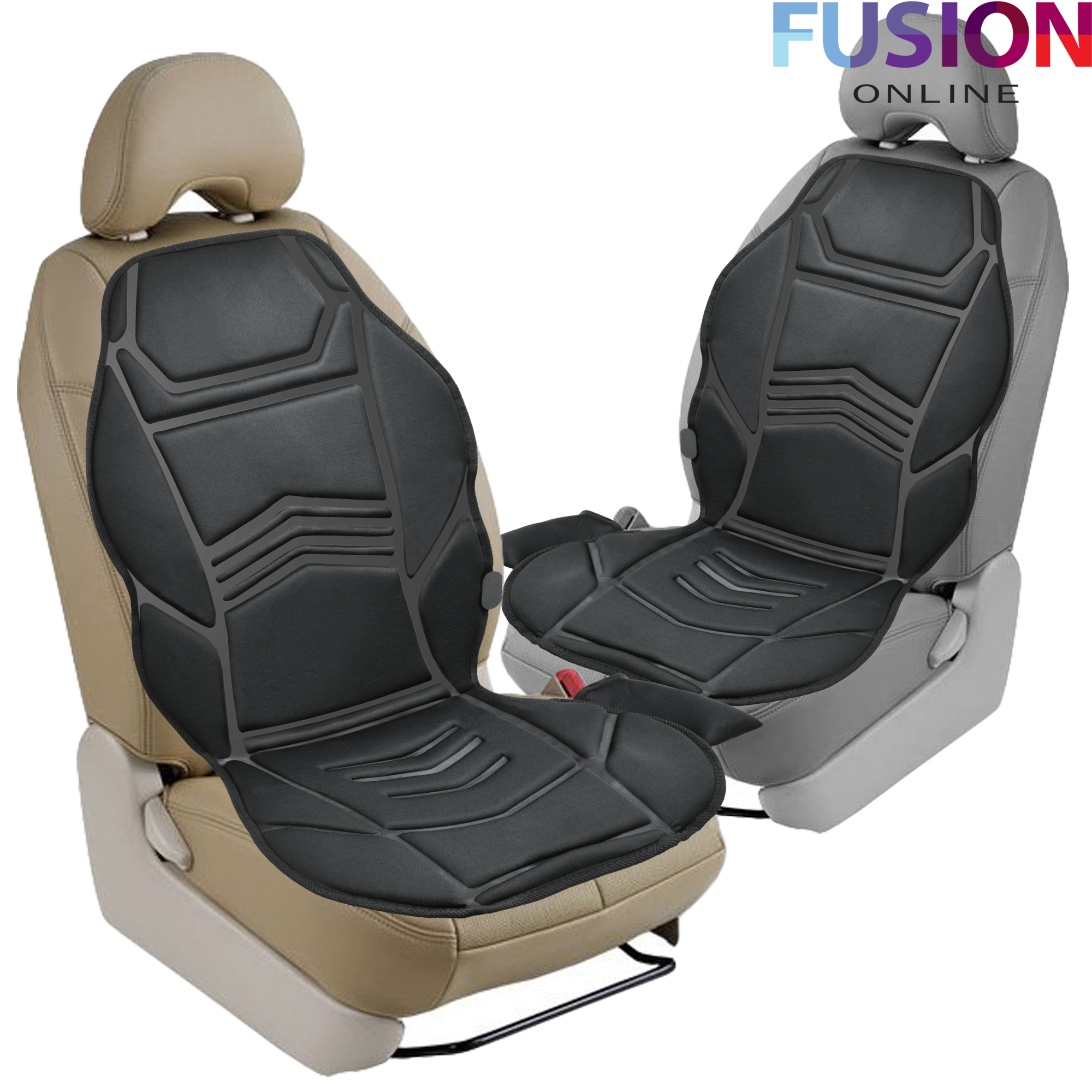 heated back seat remote control massage chair car home van relax cushion ebay. Black Bedroom Furniture Sets. Home Design Ideas