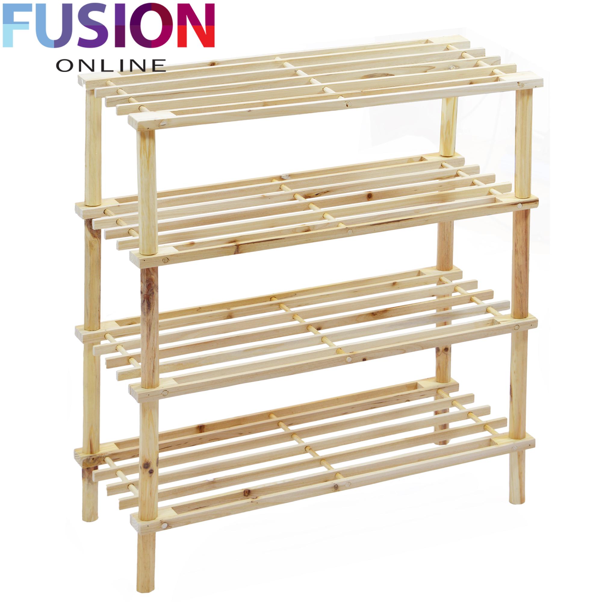 Design Wooden Shoe Rack 2 3 4 tier slatted shoe rack oak wooden storage stand organizer oak