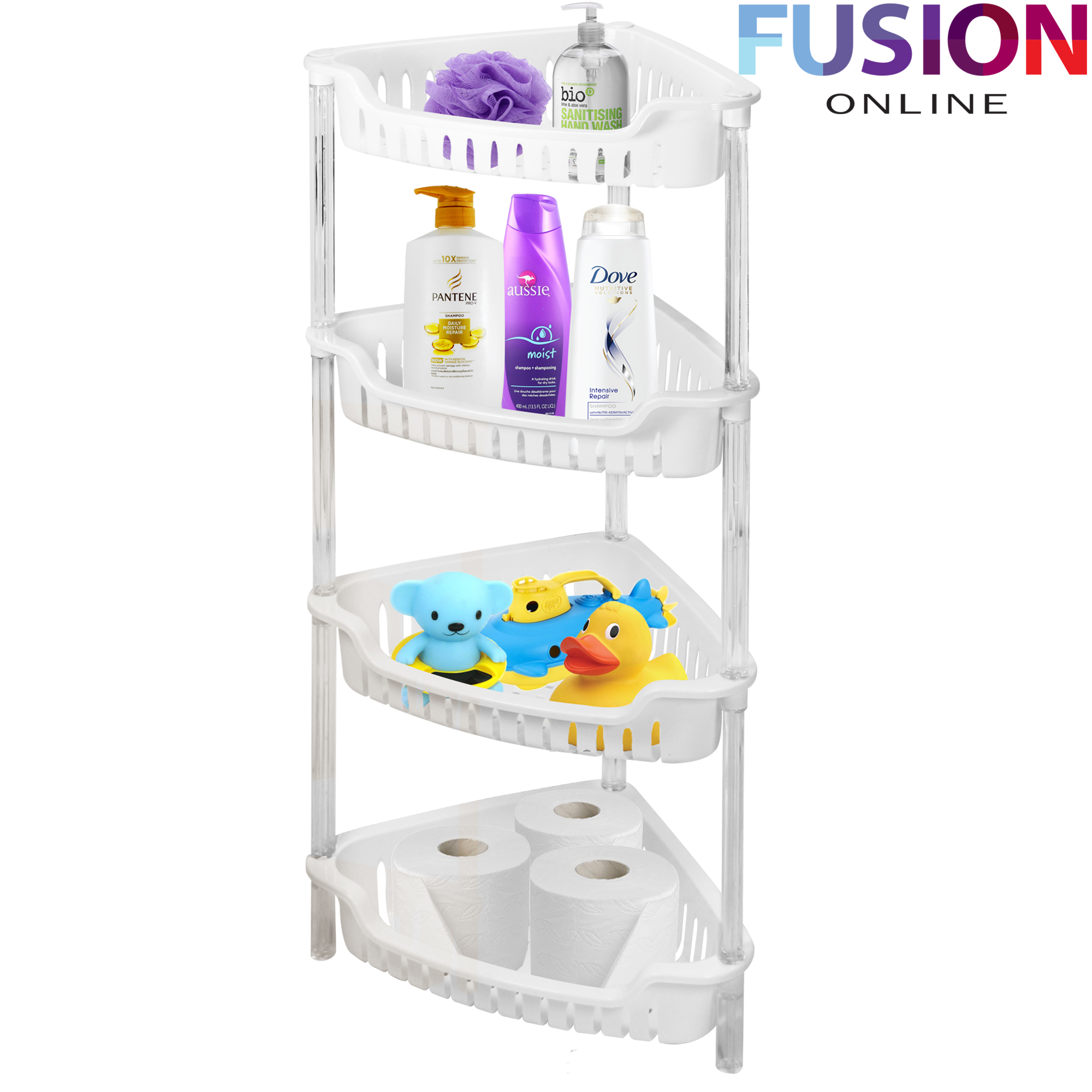 3 4 tier plastic corner shelf rack storage caddy shower
