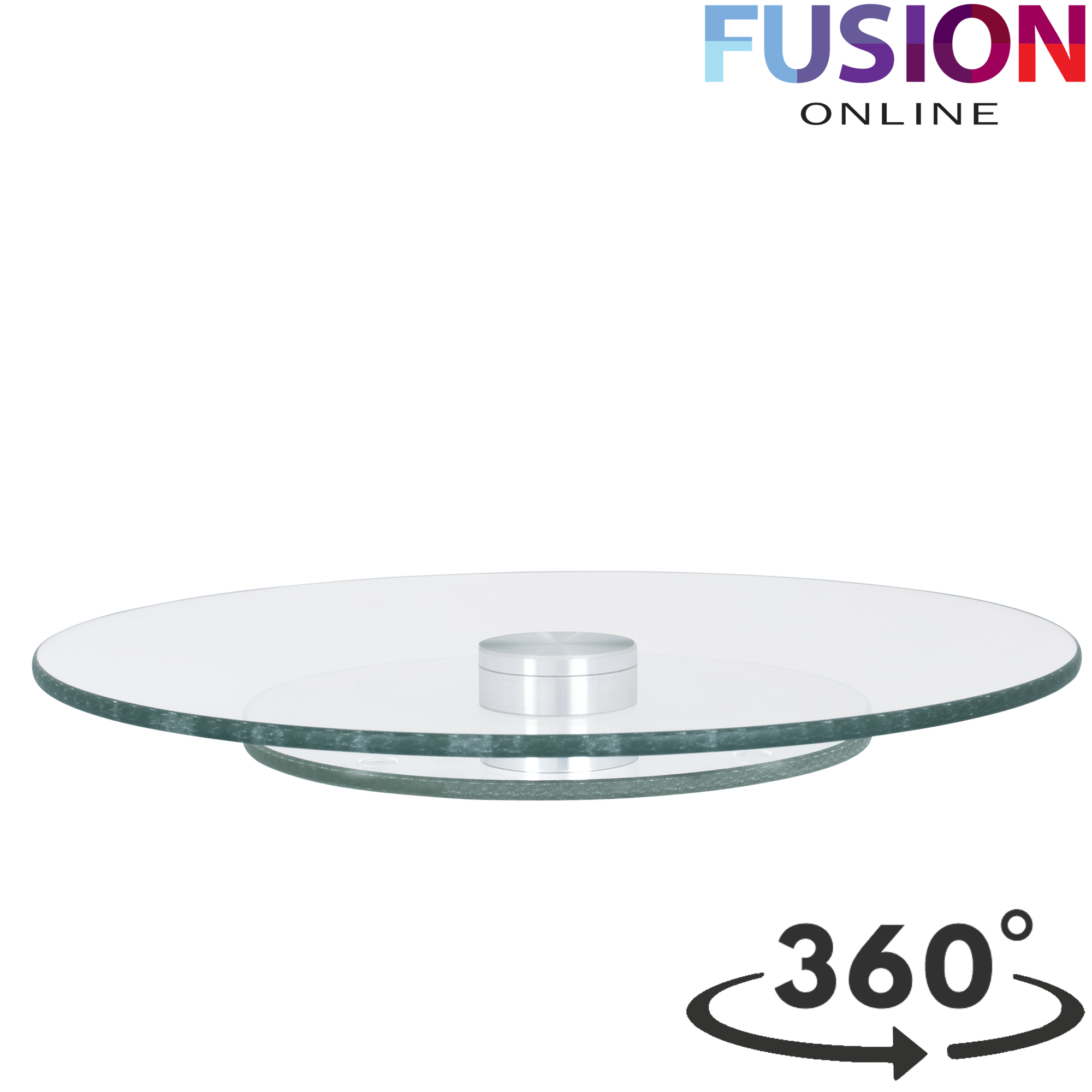 Tempered Glass Lazy Susan Rotating Turntable Serving Tray