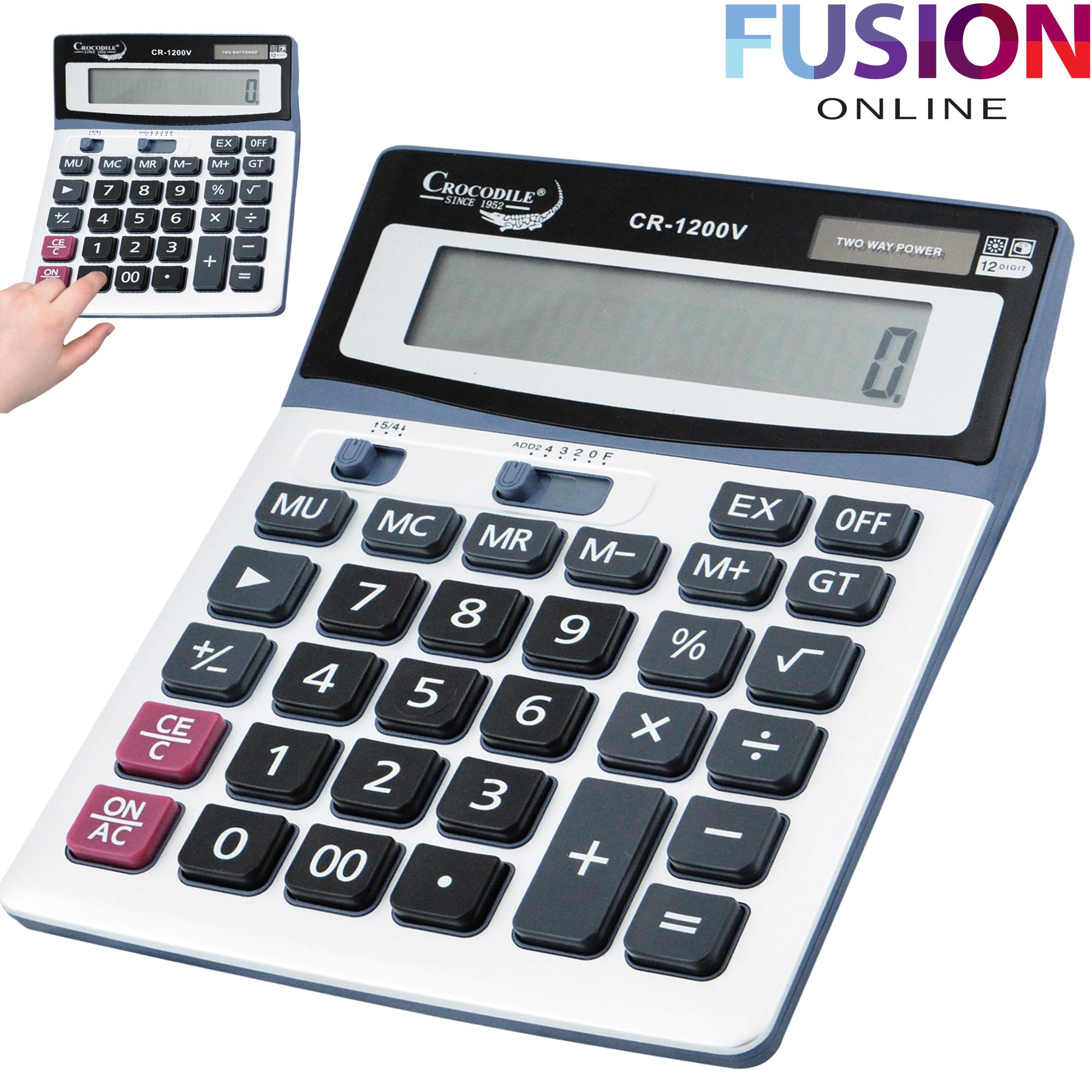 Large Desk Calculator Jumbo Large Buttons Solar Desktop