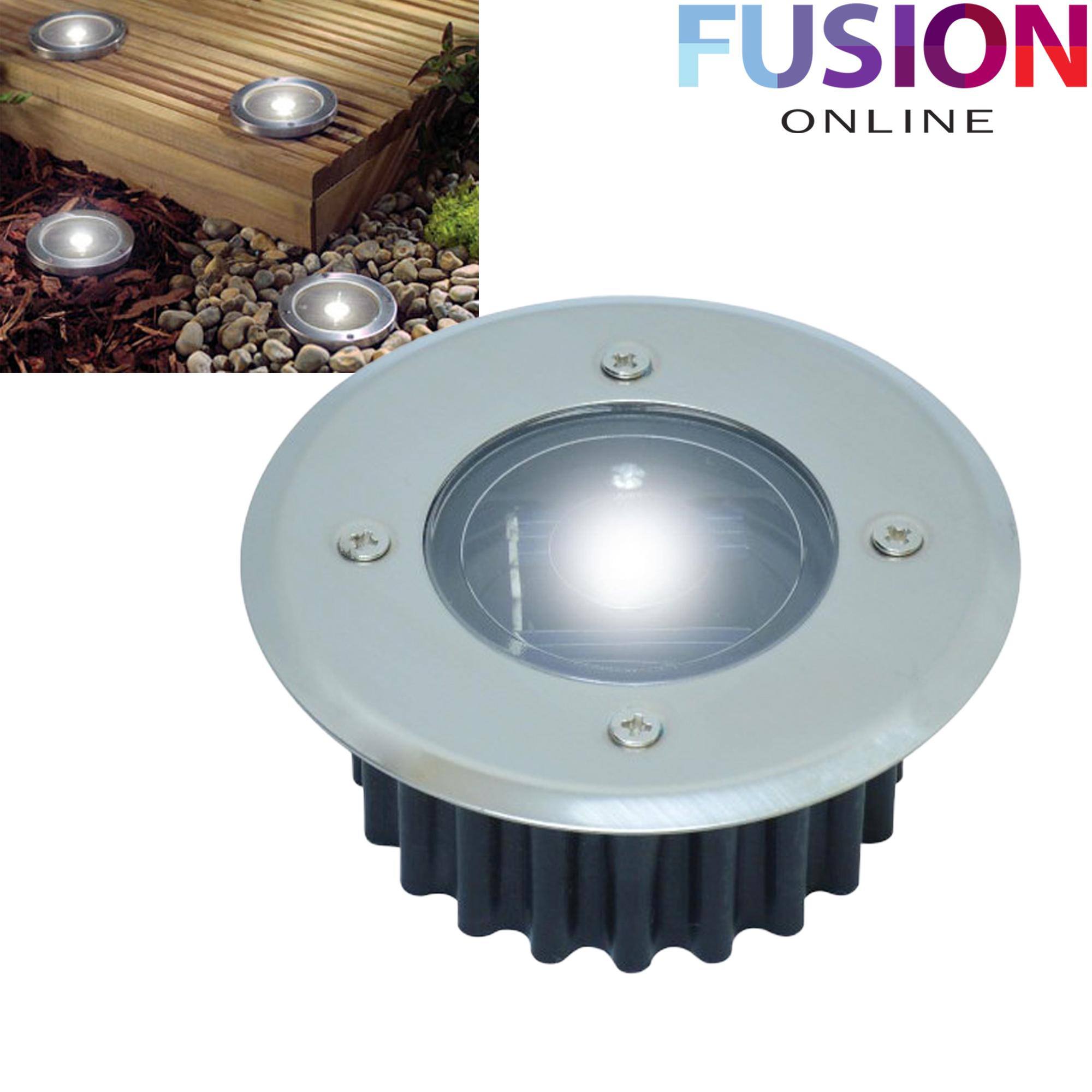 led solar powered deck lights decking garden driveway outdoor wireless lighting ebay. Black Bedroom Furniture Sets. Home Design Ideas