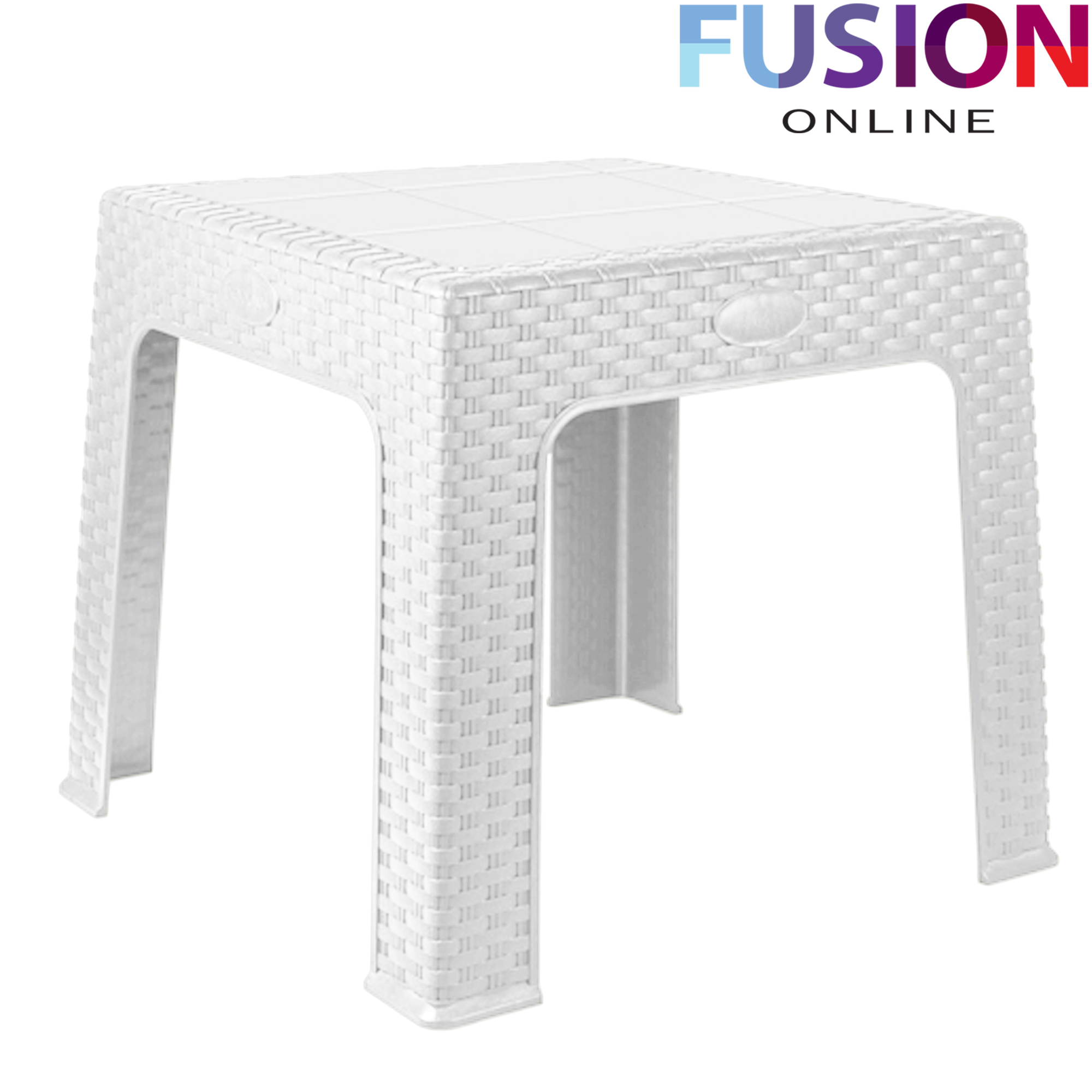 RATTAN STYLE PLASTIC SMALL TABLE OUTDOOR PICNIC PARTY GARDEN BBQ KIDS ACTIVIT -> Petite Table Plastique