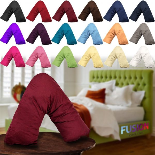 V Shaped Pillow Case Cover Pregnancy Maternity Orthopaedic Support Nursing