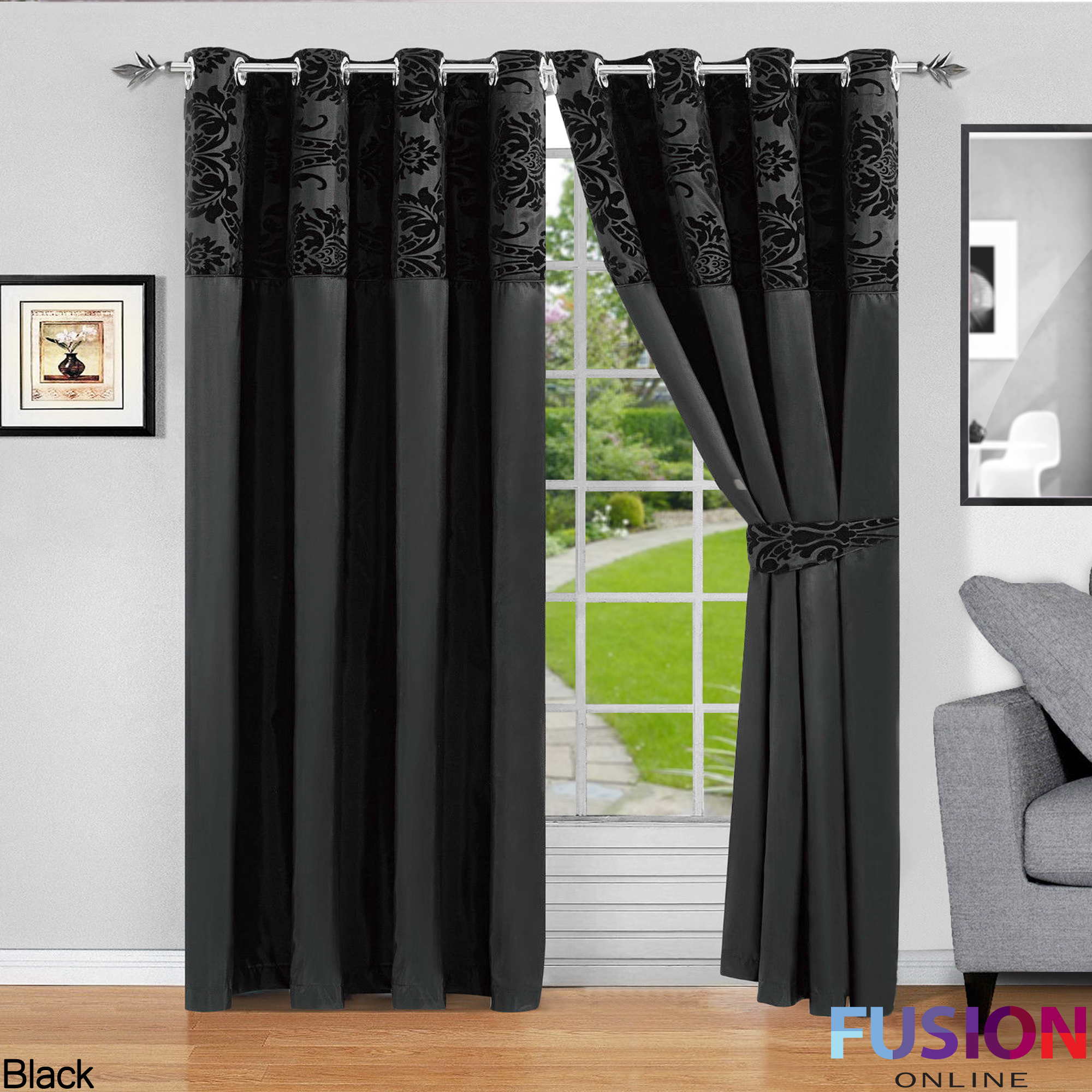 Kitchen Curtains Amazon Co Uk: RING TOP FULLY LINED PAIR EYELET READY CURTAINS LUXURY