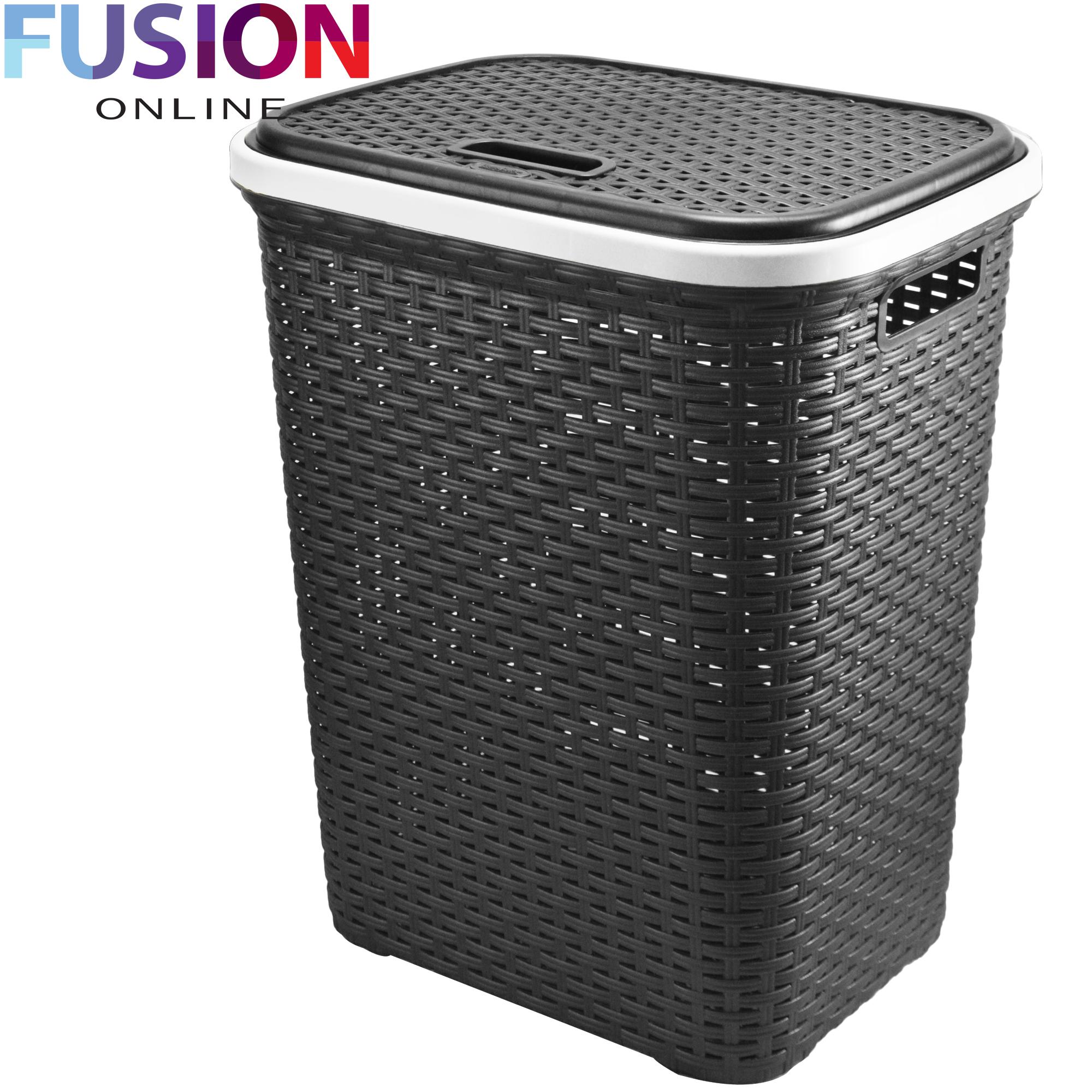 large laundry basket washing clothes storage hamper rattan. Black Bedroom Furniture Sets. Home Design Ideas