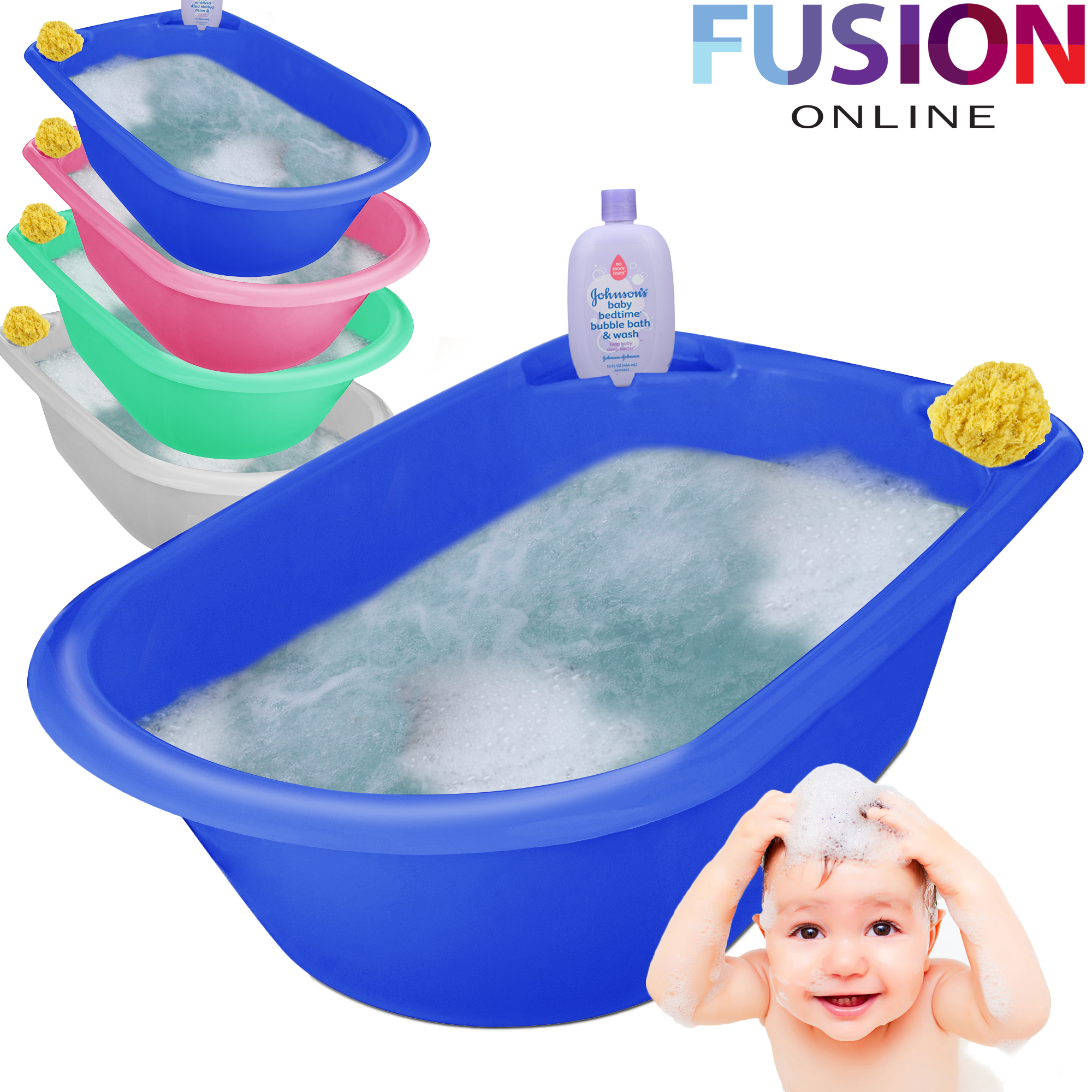JUMBO X LARGE BABY BATH TUB PLASTIC WASHING TIME BIG TODDLER ...