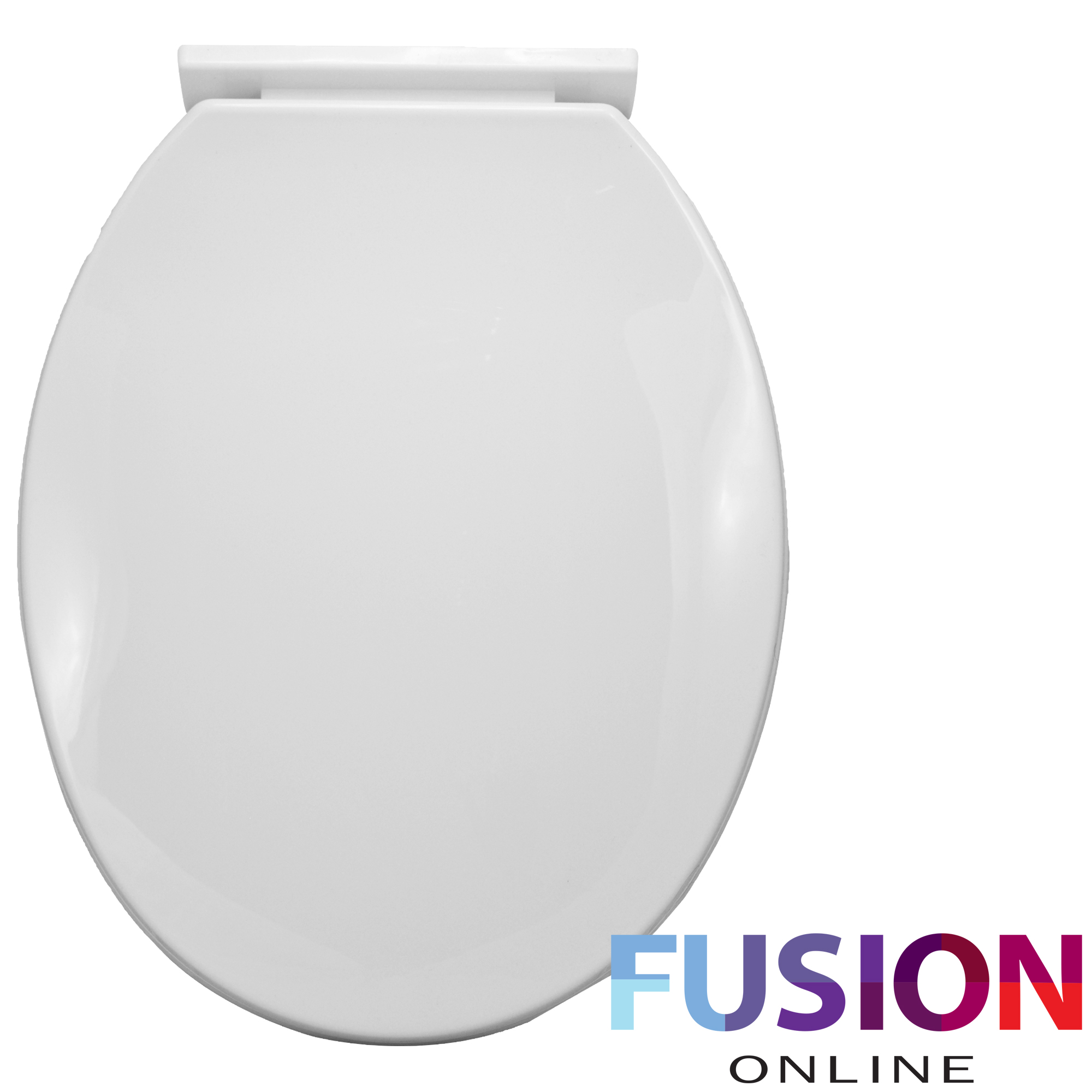 Soft Close Toilet Seat White Bathroom Wc Oval Shape Heavy