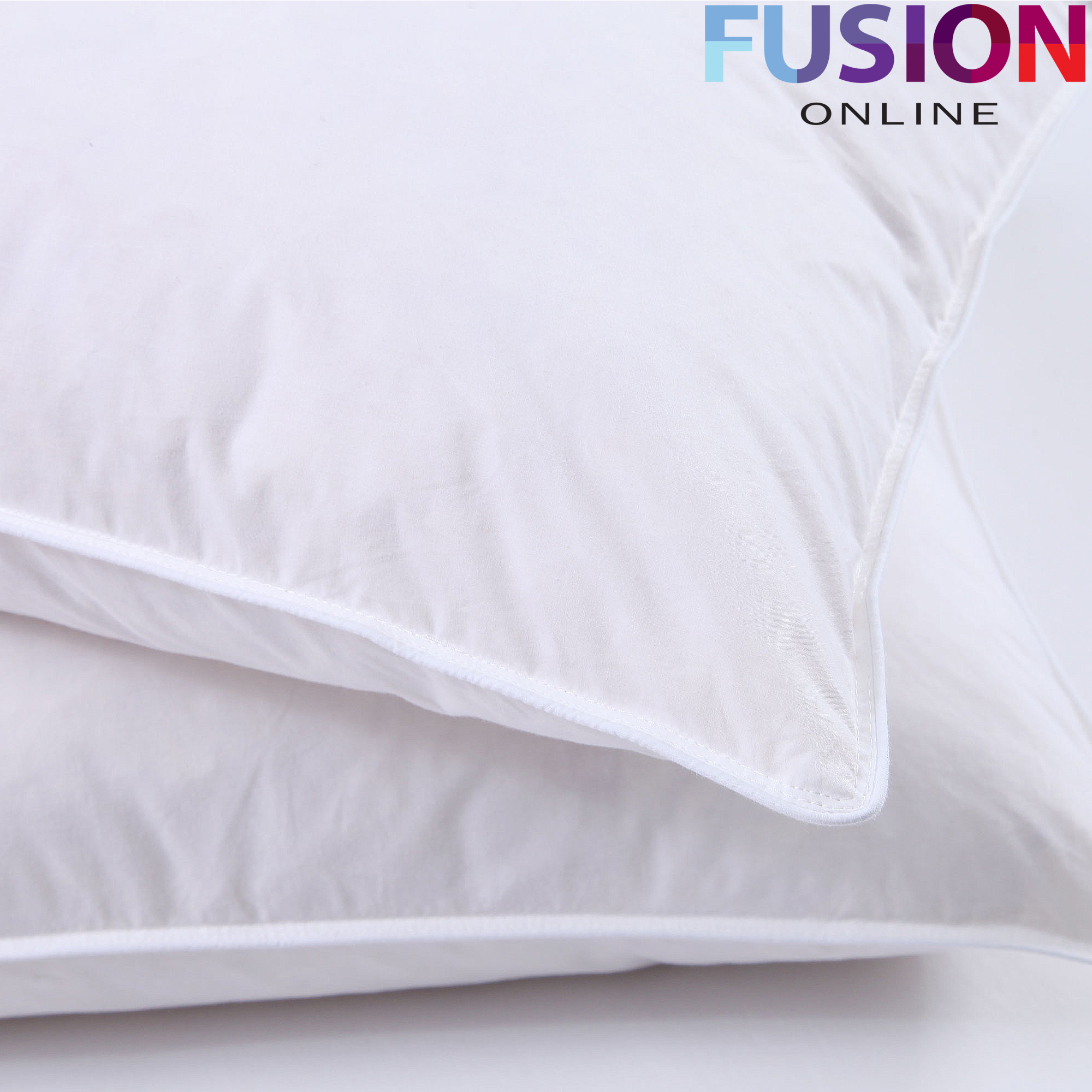 4 X Duck Feather Pillows 100 Cotton Cover Filled Luxury