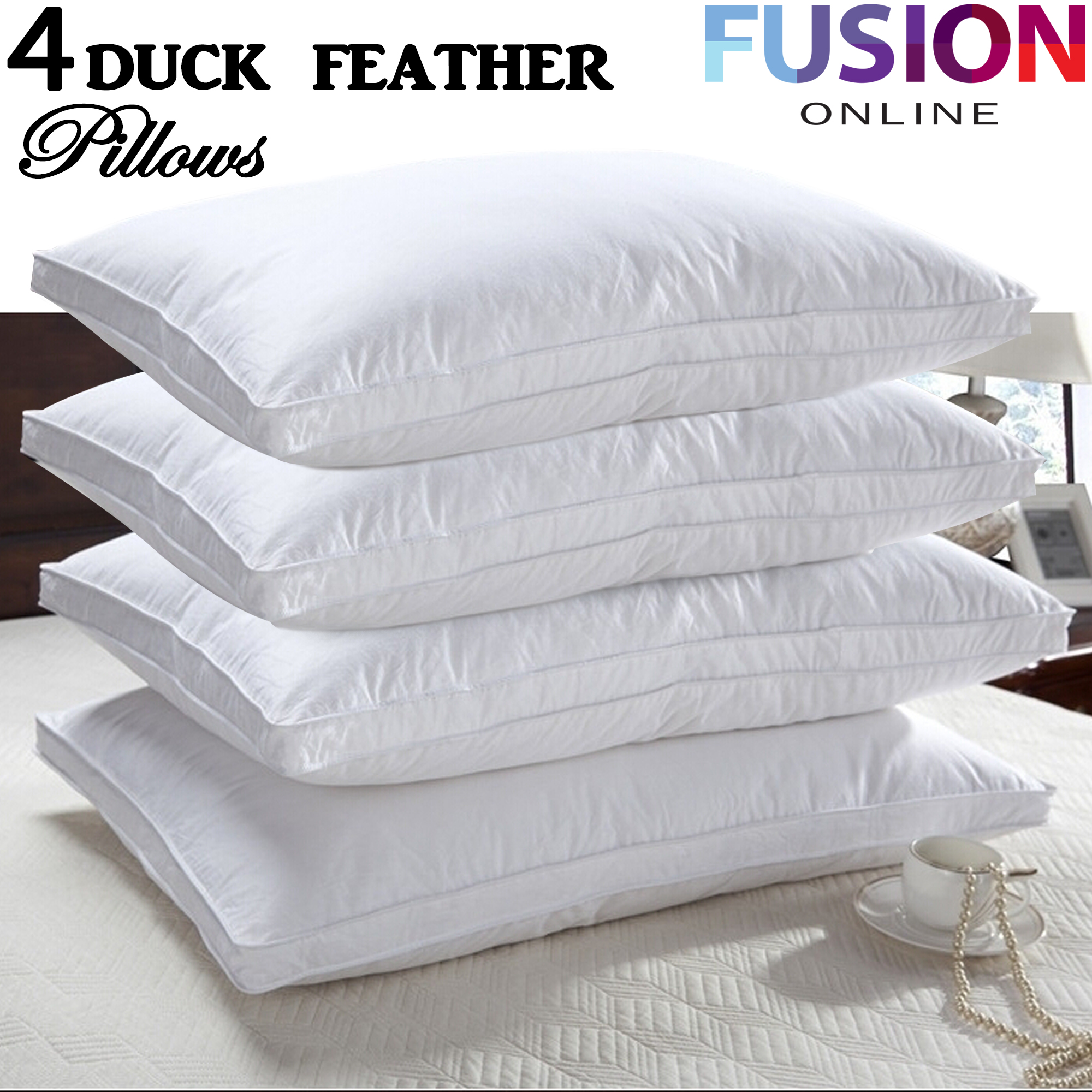 feather alliance plush duck pillow index bed pillows down quilted