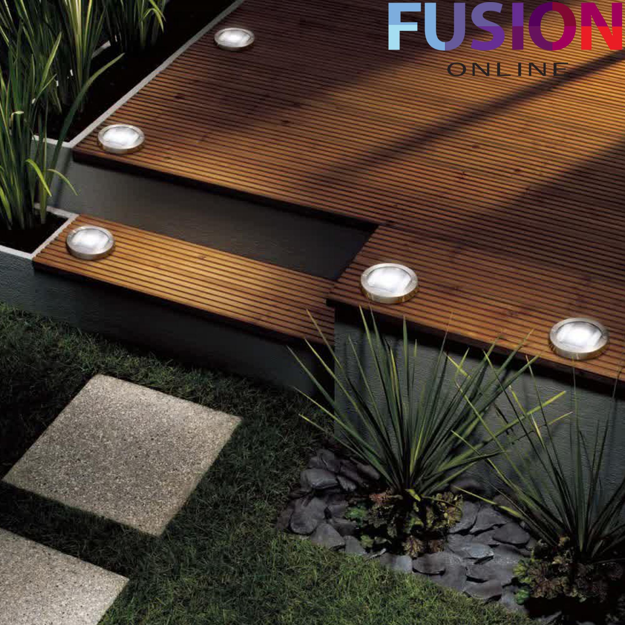 Led solar powered deck lights decking garden driveway for Garden decking lights uk