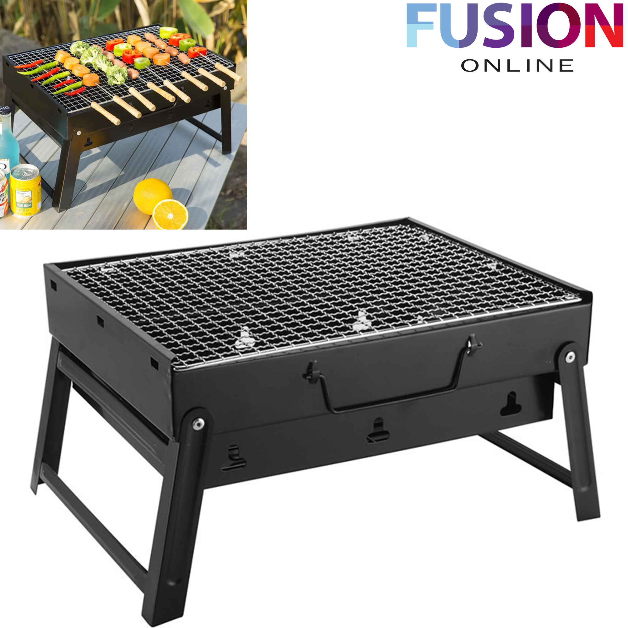 Outdoor Cooking & Eating New Garden Bbq Barbecue American Charcoal Bbq Grill Outdoor Bbqs Portable Yard, Garden & Outdoor Living