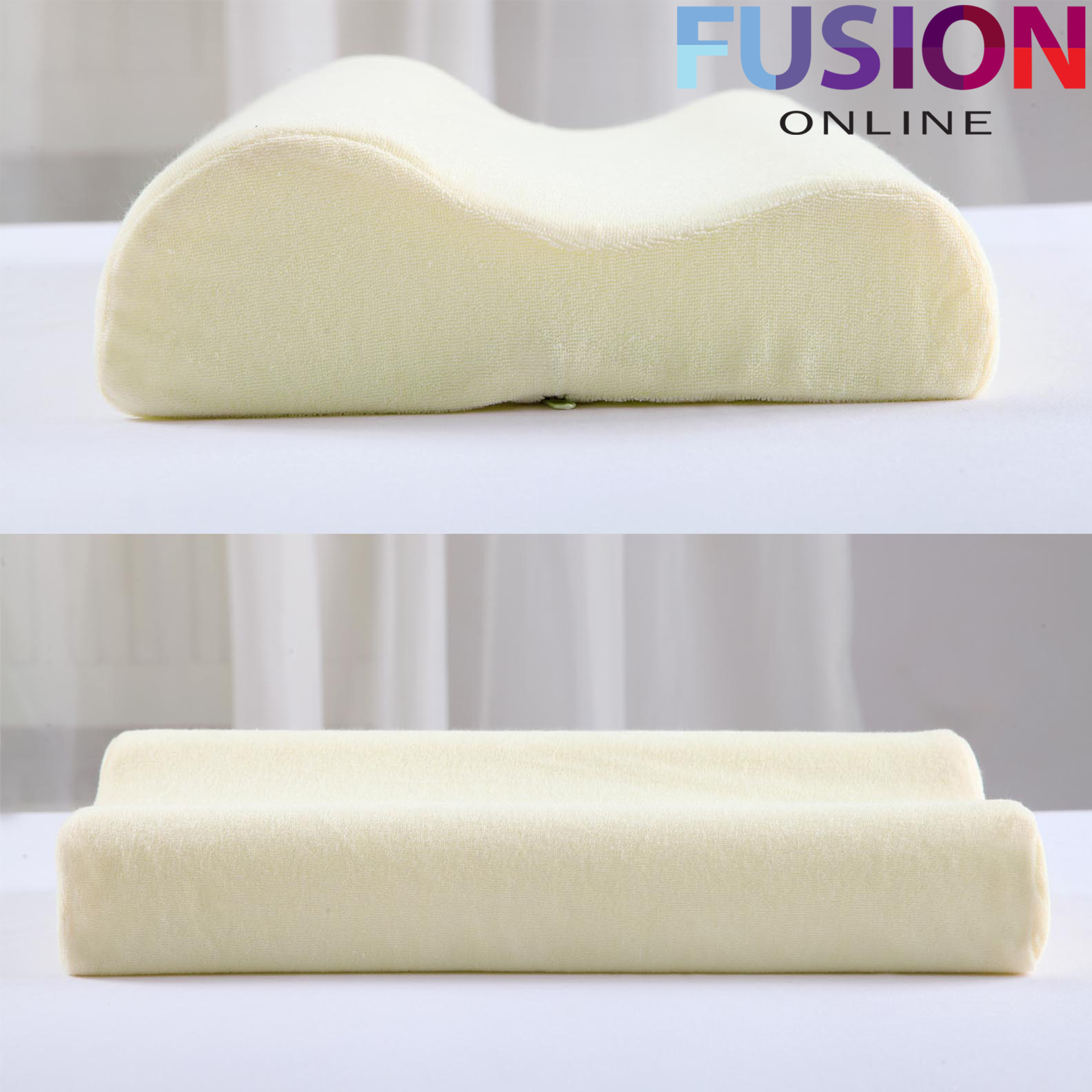 contour memory foam pillow orthopaedic firm head neck back support pillows ebay. Black Bedroom Furniture Sets. Home Design Ideas