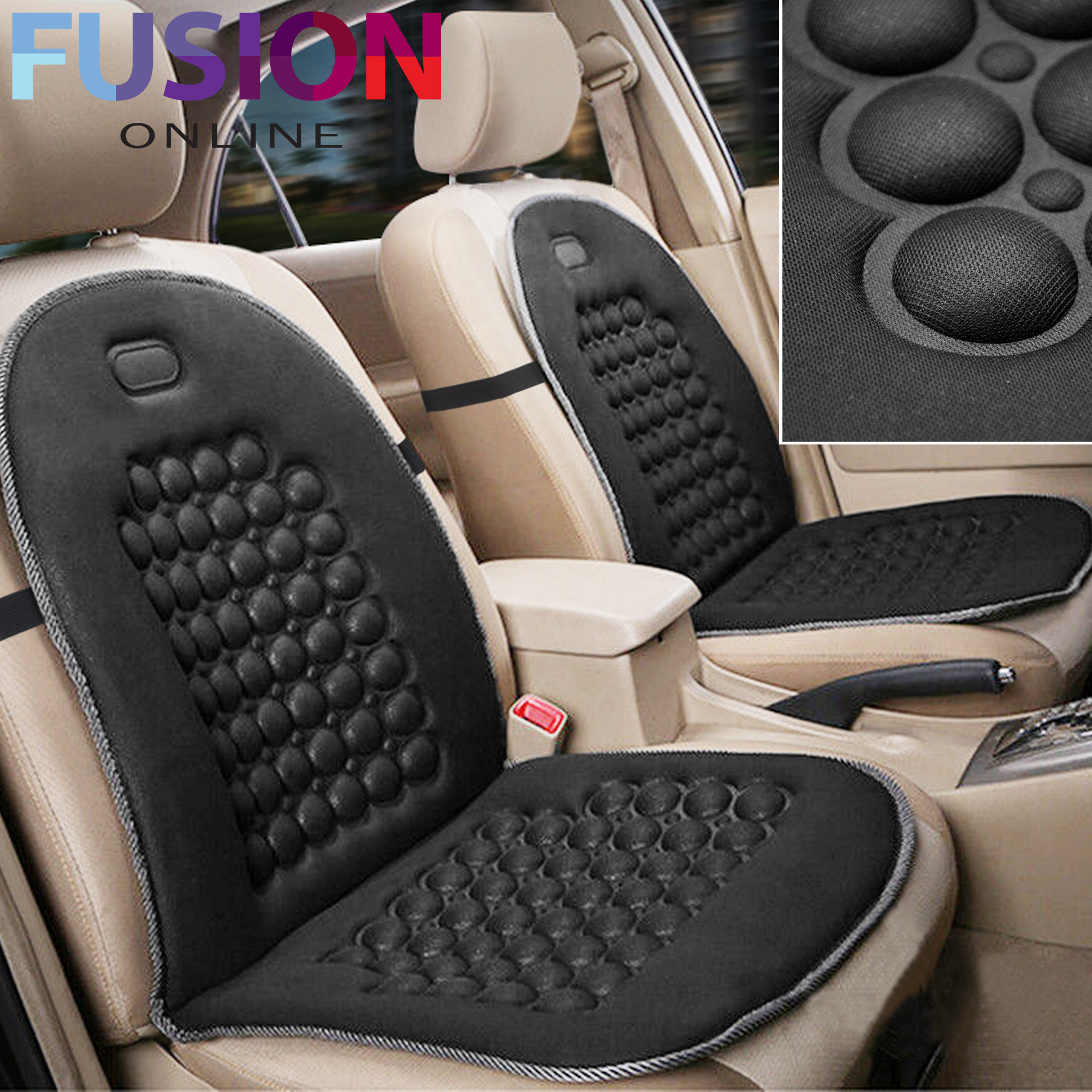 Details About Car Van Seat Cushion Orthopaedic Front Seat Cover Protect Back Support