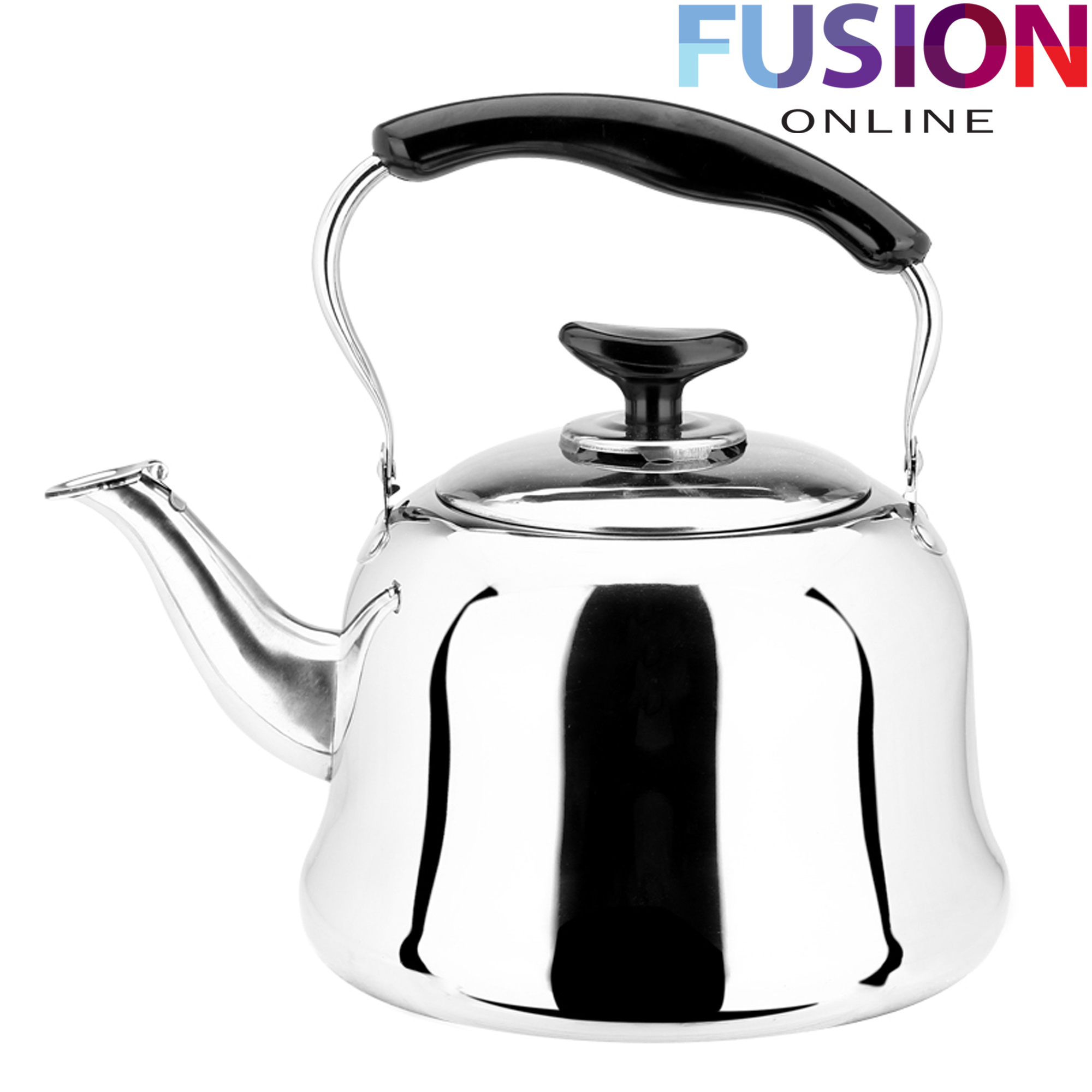 EVELYN LIVING 1 Litre Stainless Steel Traditional Kettle Electric Gas Hobs Stove Top Camping