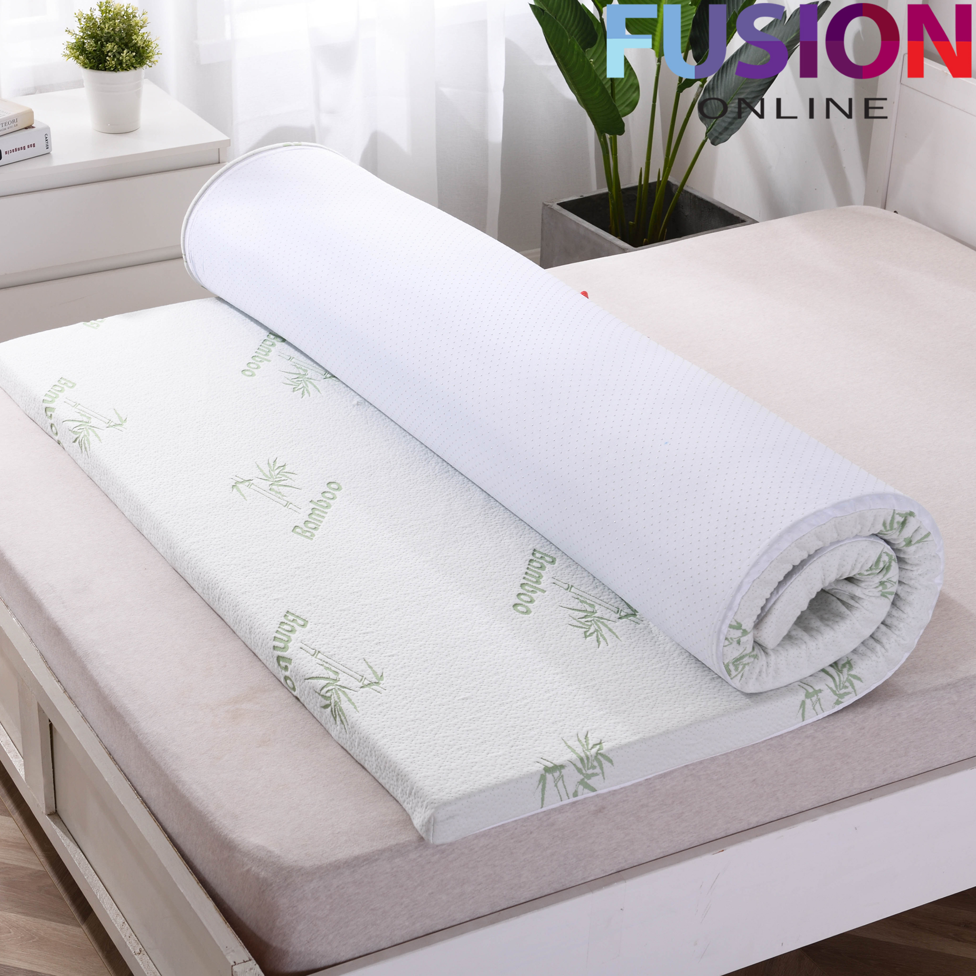 Memory Foam Mattress Topper Quilted Non Allergenic Orthopaedic 100/% Bamboo