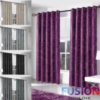 crushed velvet curtain main