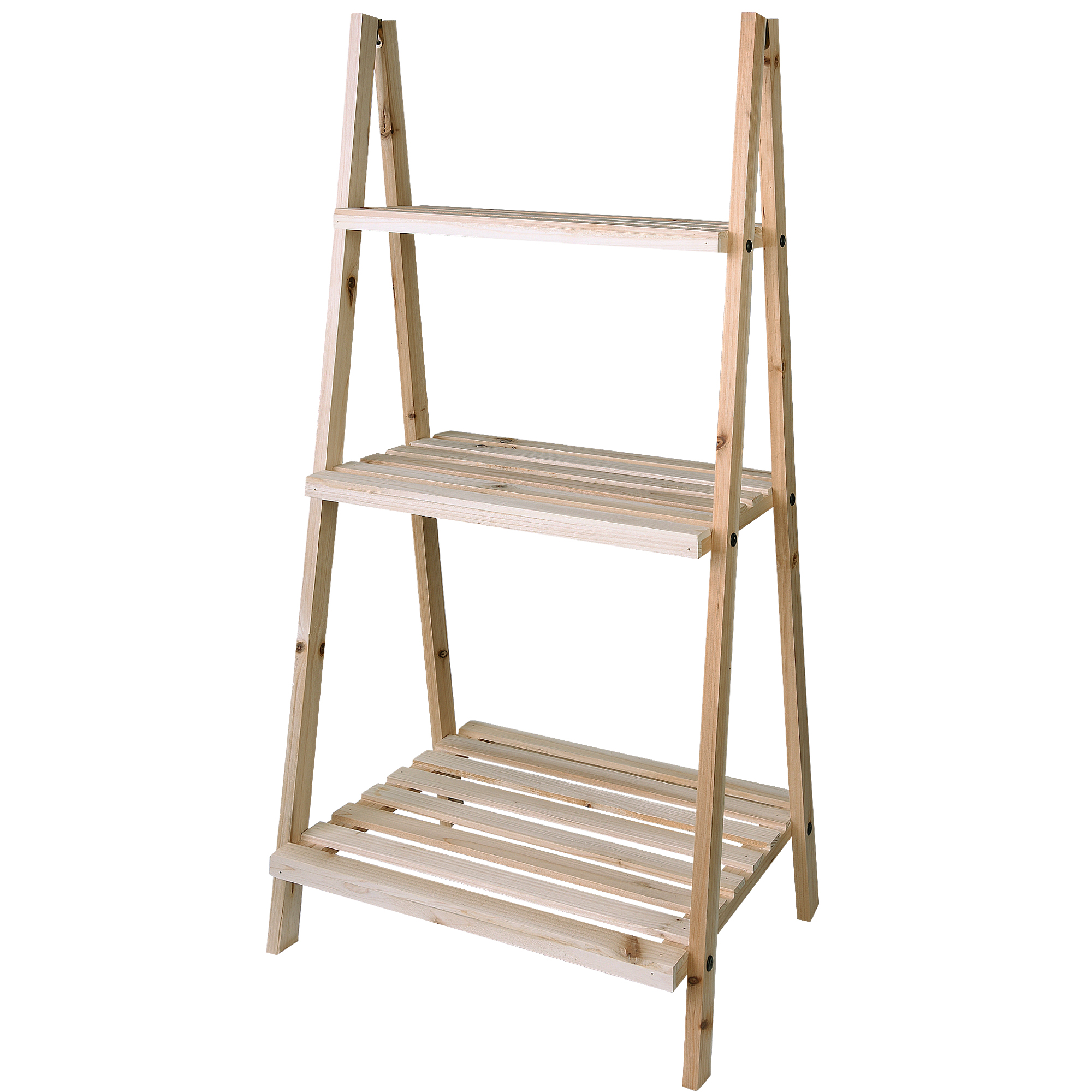Natural Evelyn Living 2 Tier Wooden Plant Stand Flower Decoration Display Organiser Outdoor Indoor Garden Shelves Pot Shelf Rack Holder Plant Containers Accessories Stands